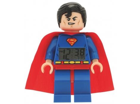 Lego Desk Table Digital Alarm Clock Superman Super