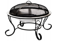 La Hacienda Denver Firepit Stainless Steel Firebowl with mesh cover 61cm