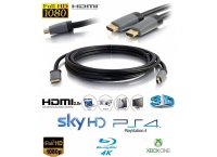 1.5m Ultra HD HDMI Cable v2.0 High Speed 4K ARC 3D 2160p PC Xbox PS4 Sky Lead